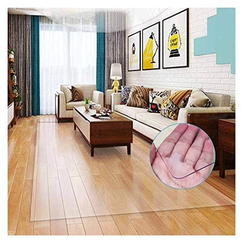 ALGXYQ Alfombrilla Rectangular PVC Transparente Protector Piso Dormitorio Hotel Anti-rasguños para Alfombra Alfombra Alfombra Sala de Estar Oficina En Casa (Color : 3.0mm, Size : 100x100cm)