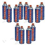 Butsir Pack de 12 cartuchos de gas, Bombonas de recarga de gas 227 g