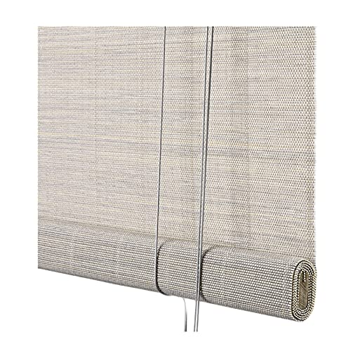 Estores De Bambú, Retro Ventana Romano Sombras, Filtrado De Luz Protección UV Rodillo Sombras con Doselera For Hogar Oficina Cocina PENGFEI (Color : A, Size : 90cmx150cm)