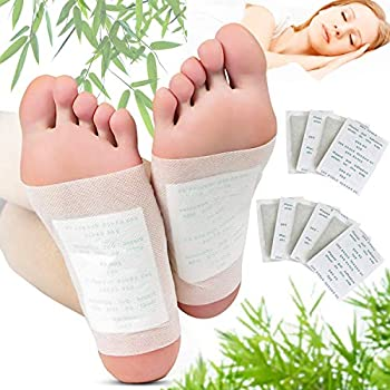 Foot Pads Kapmore 100 Relief Foot Pads and 100 Adhesive Sheets for Removing Impurities Relieve Stress Improve Sleep