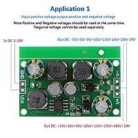 DC-DCブーストコンバータプレミアム&頑丈な素材安定したパフォーマンスブーストバックコンバータADC、DAC、オペアンプ用の正の負の電源(Output voltage ±5VDC)