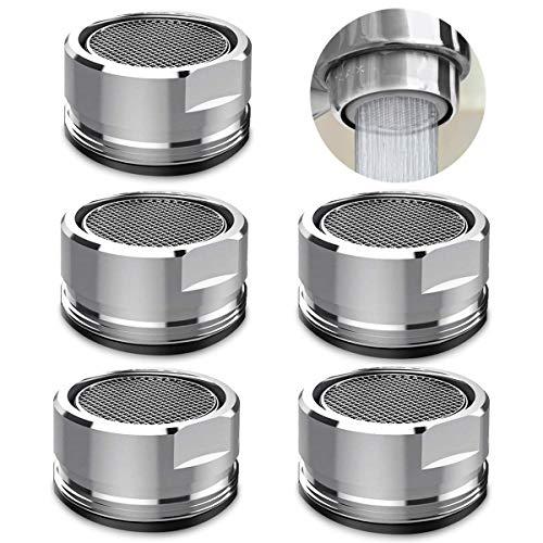 5 Stks Tap Aerator 22mm Mannelijke Tread wastafel Kraan beluchter met Pakking Anti Spatwaterbesparende Tuit Filter voor Keuken Badkamer