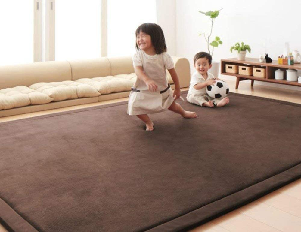 68x 68, Gray Nursery Rug Coral Velvet Crawling Rugs Mat Area Rugs Play Crawling Mat for Baby Toddler Children Play Mat Yoga Mat Exercise Pads Carpet