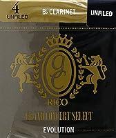 CAムAS CLARINETE - Rico Grand Concert Select (Evolution) (Dureza 4) (Caja de 10 Unidades)
