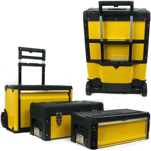 Stalwart Oversized Portable Tool Chest, Three Tool boxes in One