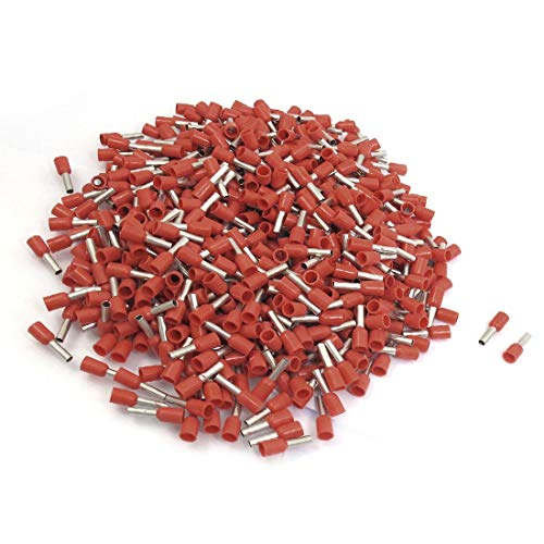 New Lon0167 1000 pzs. Destacados Terminales de tubo eficacia confiable preaislados rojos Cable Lug para 14 AWG E2508(id:bd5 c2 0d 2be)