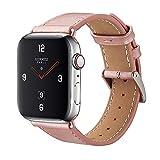 BELONGME Genuine Leather Watch Strap Compatible Apple Watch Series 4/Series 3/Series 2/Series 1…