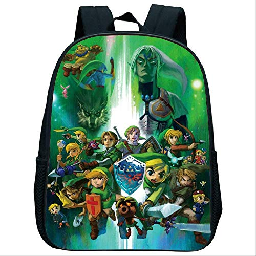 YUNMEI The Legend of Zelda Bag The Legend of Zelda School Bags for Boys Satchel Schoolbag School Bag for Girls Children Students Kindergarten Backpack