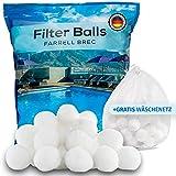Farrell Brec 700g Filterbälle inkl. GRATIS Wäschenetz - Extra langlebige Filter Balls für glasklares Wasser im Pool -Ersatz für Quarzsand, Filterglas, Filtersand- Filterballs für die Sandfilteranlage