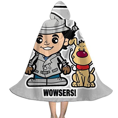 KUKHKU Lil Inspector Gadget - Capa unisex con capucha para nios, para Halloween, Navidad, decoracin de fiestas, disfraces de cosplay