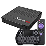 Android TV Box 10.0 4GB 32GB Smart TV Box Amlogic S905X3 with Backlit Wireless Mini Keyboard USB 3.0 Ultra HD 4K 8K HDR Dual Band WiFi 2.4GHz 5.8GHz BT 4.0 RGB Lights Set Top Box