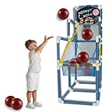 yoliyogo Basketball Hoop Arcade Sport Toy with 8 Balls Assemble Basketball Training Set Indoor Outdoor Party Favor Playset