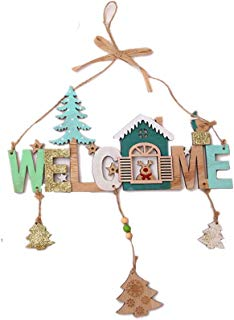 Shimigy Christmas Wooden Wind Chime String House Name Creative Shop Indication Listing