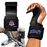 Weight Lifting Hooks - Weight Lifting Straps Deadlift Straps - Lifting Hooks for Powerlifting - Weight Lifting Hooks Grips w/ Wrist Straps for Weight Lifting - Weight Lifting Hooks for Men & Women