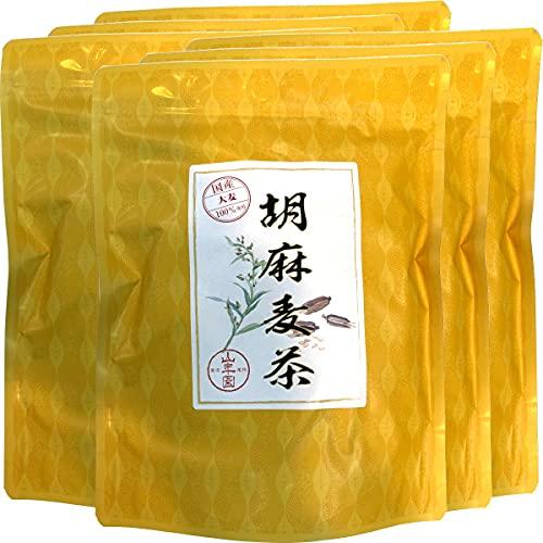 健康茶 国産大麦 胡麻麦茶 ティーパック 240g(4g×60p)×6袋セット 巣鴨のお茶屋さん山年園