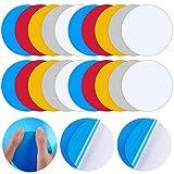 Parches Autoadhesivos Redondos de Reparación de PVC, Apliques de Vinilo para Revestimiento de Piscina Vinilo para Reparación de Cauchos Barcos Bote Inflable (Colores Vibrantes, 20 Piezas)