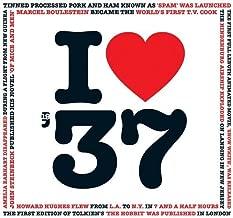1937 Birthday Gift - I Love 1937 Compilation Music Hits CD - 20 Original Songs - 1937 Year Greeting Card