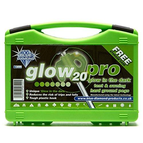 Accesorios para Tienda de campaa Blue Diamond Glow Pro Pegs Amarillo, Amarillo, Talla Única
