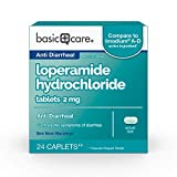 Amazon Basic Care Loperamide hydrochloride tablets, 2 mg, anti-diarrheal, 24 Count