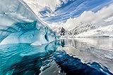 Eisberg Schnee Alaska Meer Natur Bild XXL Wandbild