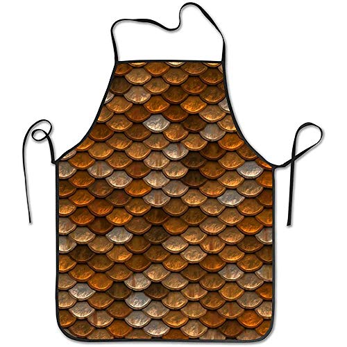 GWrix Keukenschort met nekband, instelbare taille, kokenschort, schort met weegschaal, waterdicht grillschort, barbecueschort
