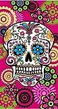 Energy Colors Textil - Calavera - Toalla Playa Microfibra 75 x 150 cm (Rosa)