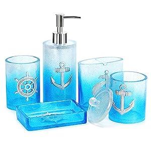 51nuEefDXcL._SS300_ Coastal & Beach Bathroom Accessories Sets