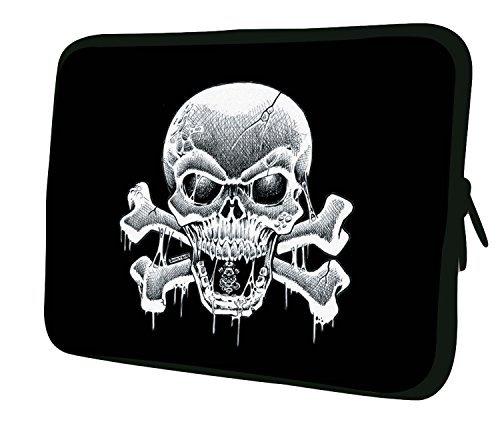 Luxburg® laptop sleeve EK10025 beschermhoes, 33 cm (13 inch), piraat vlag, stuk: 1
