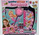 Hot Focus Mermaid Gifts for Girls - Scrapbook Craft Kit for Kids 5 to 10 Years Old - Hardback Secret Set with Passcode Lock to Keep Her Secrets Safe, Stickers, Jewels, Tape and Pen in Mermaid Theme