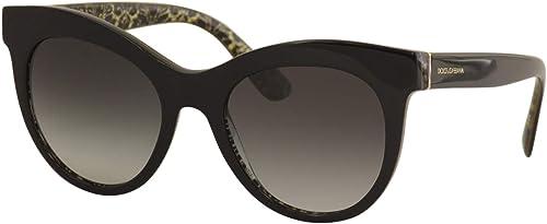 Dolce & gabbana, occhiali da sole per donna, montatura rotonda in acetato, colore delle lenti grigie DG4311 32158G