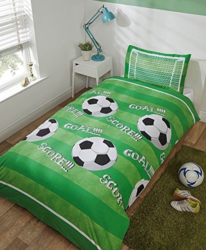 Rapport Football Parure de lit Simple en Polyester Vert