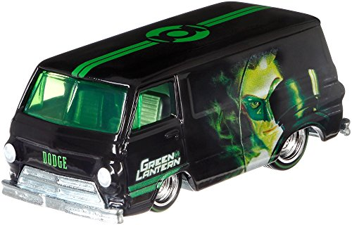 Hot Wheels Premium 1:64 Scale Die-cast Green Lantern 66 Dodge A100