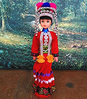 Heatrace 10.62''/27cm Chinese Traditional National Ethnic Minority Doll Girl Figurine Collectibles