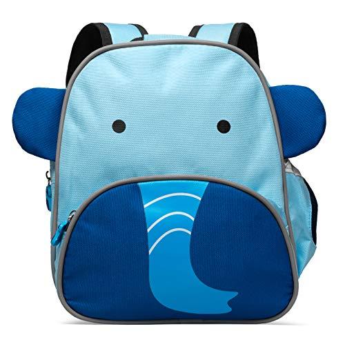 MOGLI Kinderrucksack, süßer Tagesrucksack für Kindergarten, Kita mit Brustgurt, Reflektoren und Innenfach (Elias Elefant)