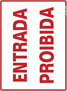 Placa em Poliestireno 15X20 Cm - Entrada Proibida, SINALIZE, 220AT, Branca