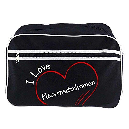 Diseño de bolso bandolera I Love aletas de natación Negro