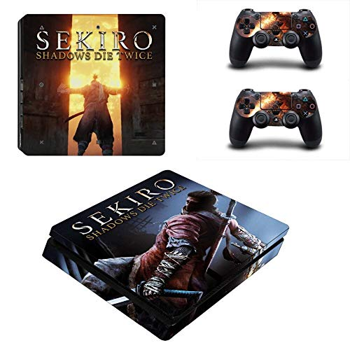 TSWEET Sekiro Shadows Die Twice Ps4 Slim Skin Sticker Decal for Playstation 4 Console and 2 Controller Skin Ps4 Slim Skin Sticker Vinyl