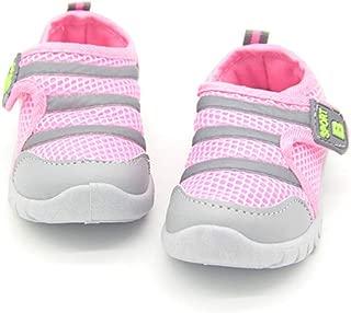 Kids Boys Girls Hook Loop Breathable Mesh Running Sneakers Sports Non Slip First Walker Shoes (Toddler/Little Kid)