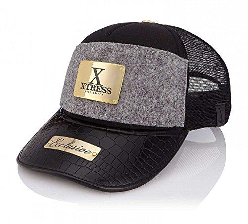 Xtress Exclusive Gorra negra y gris para hombre y mujer.