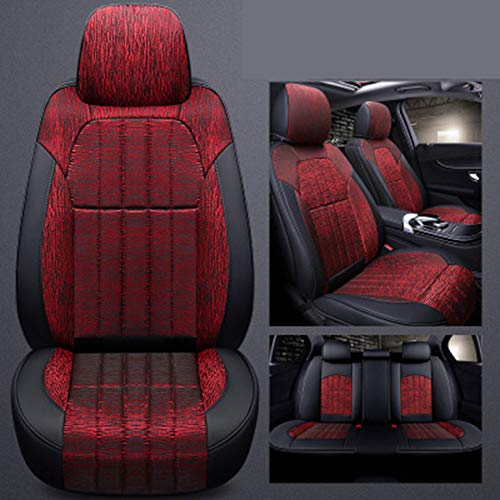 Jiayi Coussin Voiture Confortable en Cuir Wearable 6D Seamless Cover Four Seasons Coussin Universal