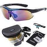 (フェリー) FERRY 偏光レンズ スポーツサングラス フルセット専用交換レンズ5枚 ユニセックス ブルー/ブラック