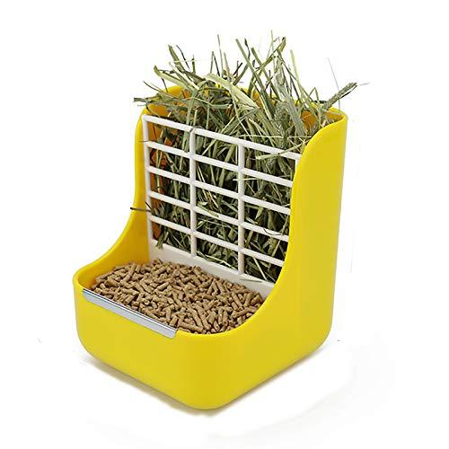 Alimentador De Heno Para Conejos 2 En 1, Accesorios Para Conejos, Cuenco...