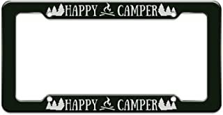 Graphics and More Happy Camper with Campfire License Plate Tag Frame