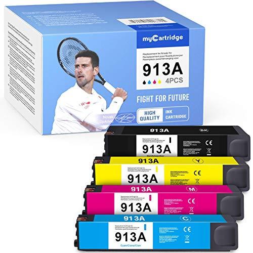 MyCartridge 4 cartuchos de tinta compatibles con HP 913A Multipack para Hp PageWide 352dw MFP377dw 377dn Pro 477dn MFP 477dw 352dn 452dw MF 552dw 577dw MFP 577z MFP gestionado P55250dw MFP P5775 0dw