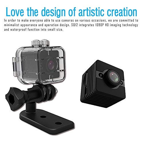 Zmsdt Mini cámara Oculta HD 1080P Spy Secret Cámara de Seguridad Nanny CAM Grabadora de Video portátil con visión Nocturna, detección de Movimiento y grabación en Bucle