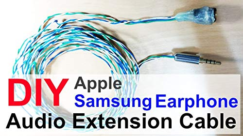 How to make AUX Stereo 4 Pole Cable DIY - For Apple iPhone Samsung Android (English Edition)