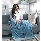 caffmo掛け毛布 タオルケット 着る毛布 ひざ掛け ブランケット ポンチョ 多機能 厚手 大判 暖かい ふわふわ 冷房対策 シングルサイズ