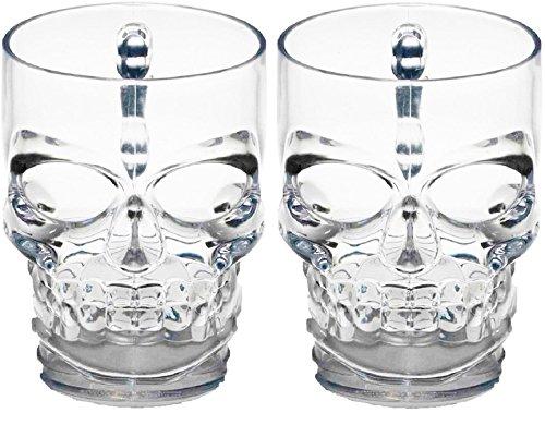 Circleware Skull Face Beer Mug Drinking Glasses