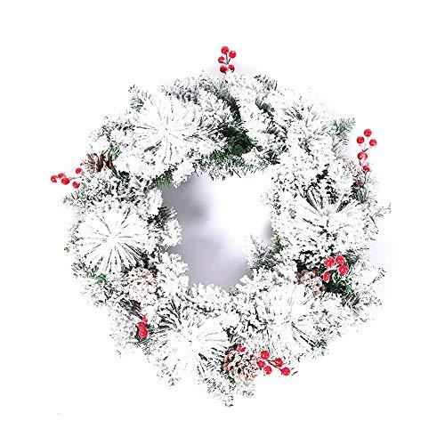 GYH Guirlande de Noël - Décoration de Noël Simulation Plant Flocon de Neige Guirlande de Noël 50cm /&