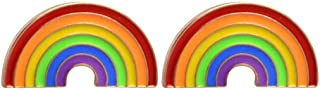 Charmart Rainbow Lapel Pin 2 Piece Set Colorful Enamel Brooch Pin Bags Backpacks Jackets Denim Shirt Collar Badge Gifts